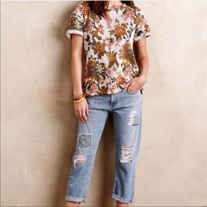 Anthropologie Saturday Sunday Floral Button Top M